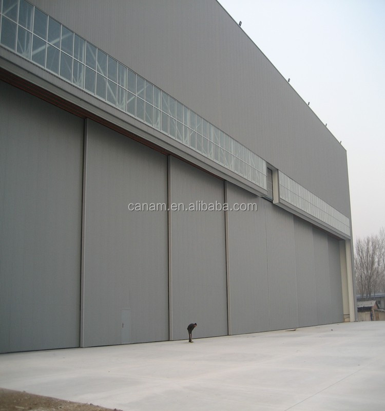 Helical Gear Transmission In The Gear Box Durable Automatic Aircraft Hangar Door