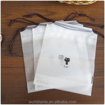 Semitransparent Frosted Underwear Packaging Plastic Drawstring Bag ...