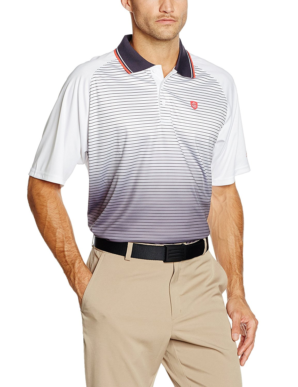 Buy Island Green 2016 Printed Performance Stripe Cool Pass Mens Golf
