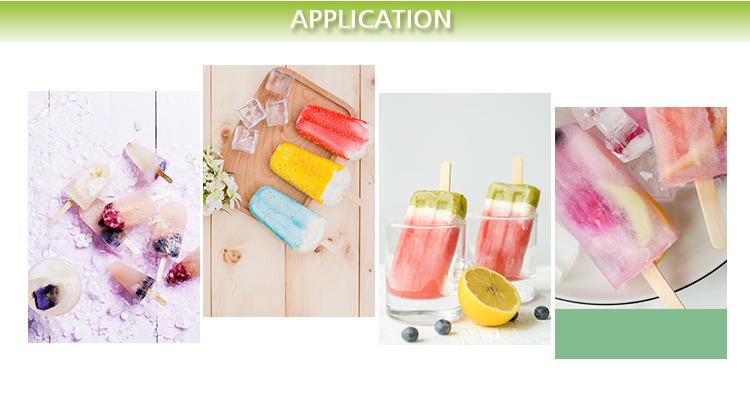 Hochwertiges, anpassbares, exklusives Logo, eine Vielzahl von farbigen Eiscreme-Sticks
