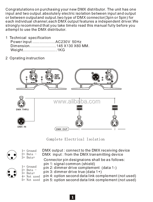 2ch 3pin 5pin Dmx In/out,Dmx Distributor Dmx Splitter - Buy Dmx Distributor,Stage  Pin Dmx Wiring Diagram on