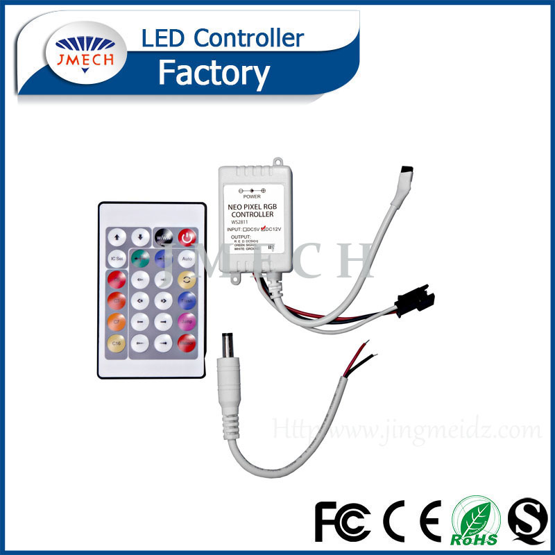 5V 24key Dream color IR RGB LED pixel controller 80 more changes for led strip module WS2811/WS2812 / WS2812B/ WS2813/ 1903 /INK