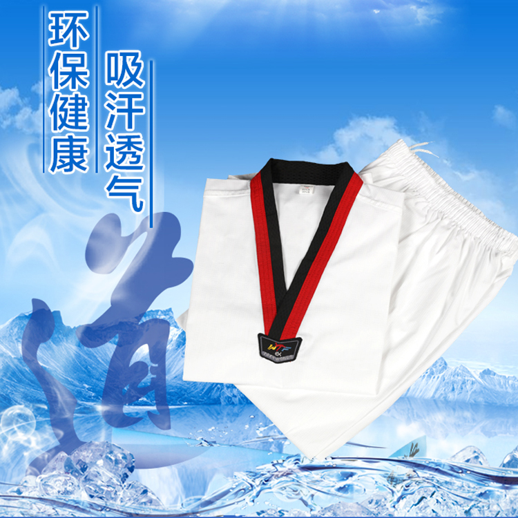 new 100% cotton international wtf training taekwondo uniform suits