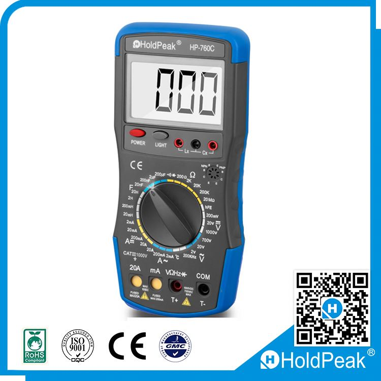 Pen Type DC/AC Voltage Capacitance Resistance Digital Multimeters w/LCD Backlight Data Hold Multimetro LCR Meter