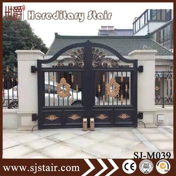 Paint Finish Aluminum Gatecattle Head Gate Decoration For Garden/ Villa  Decoration