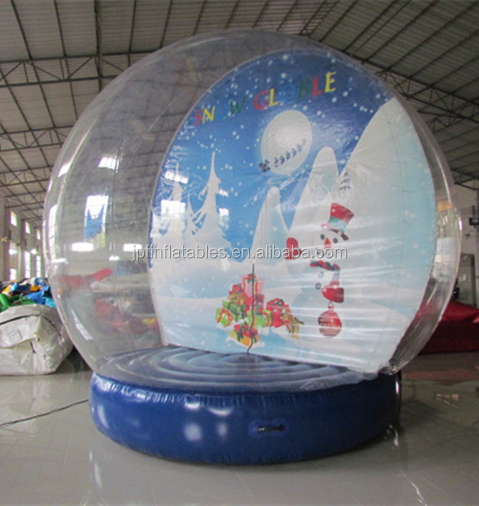 inflatable Christmas snow globe with air sealed base, inflatable christmas clear photo booth