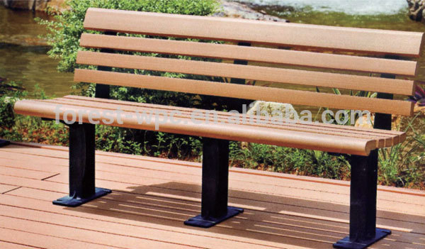 Composite wood curved outdoor bench cheap outdoor concrete bench best price outdoor wooden bench Cheap outdoor bench