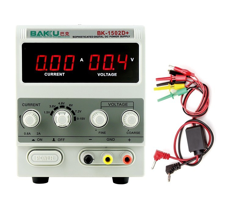 BAKU BK1502DD Best price LED switch regulated dc power supply with repair mobile phone