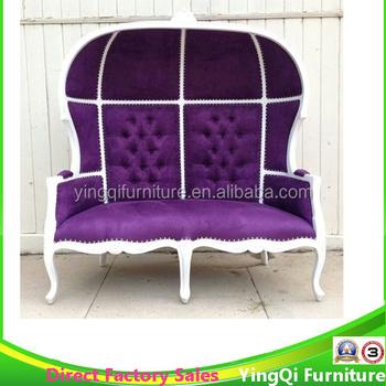 white purple love seat birdcage throne queen chaise lounge sofa