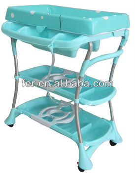 Folding Baby Changing Bath Changing Table,changing Table Bath Tub,baby Changing  Table With