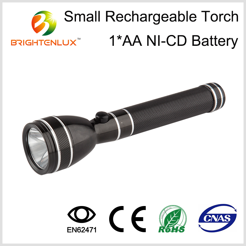 Factory Supply High Quality Best Emergency Aluminum Material AA battery Small Pocket Mini led Bright Light Torch Rechargeable