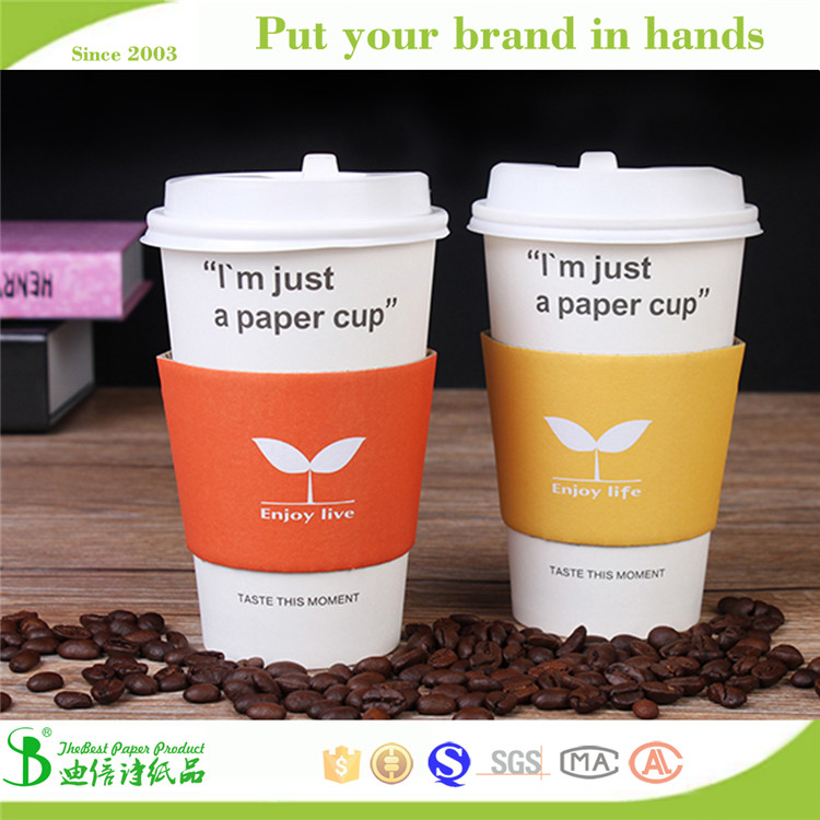Free samples!! Thebest party accessories disposable Healthy paper tea cup with plastic lids