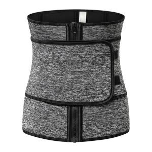 Best sale women hot neoprene vest belt sweat slimming sauna for loss weight zipper Adjustable Waistbody shaper waist trainer