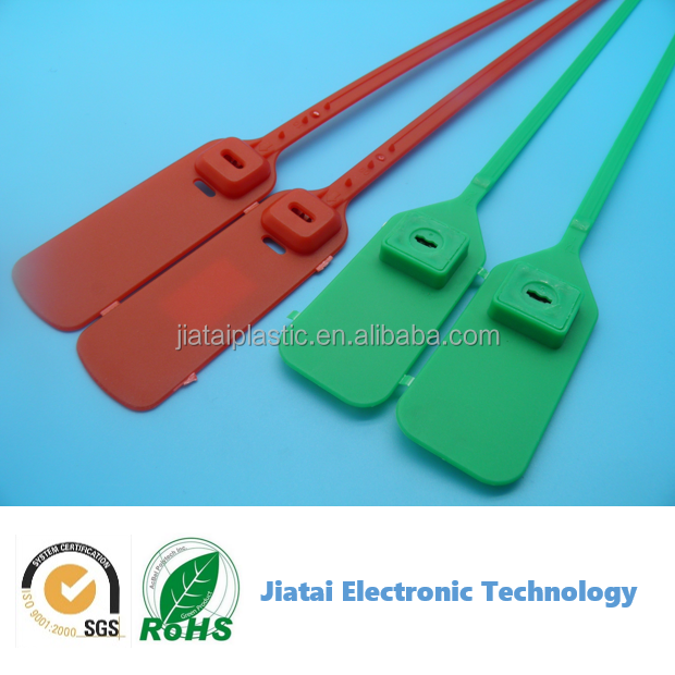 colorful plastic cable tie tag