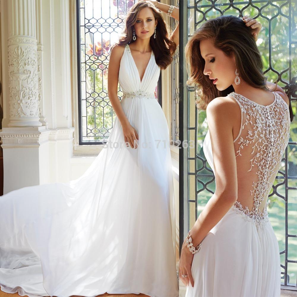 Sheer-Mesh-transparent-Back-Wedding-Dresses-2014-New-Beach