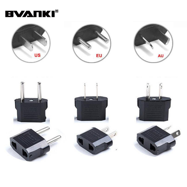 Power Plug Adapter USA US EU AU AZ Europe AC wall power plug phone travel Adapter