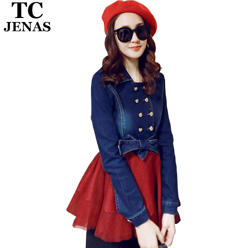 Get Quotations · TC Brand Women Jeans Dress 2015 Spring Autumn Casual  Patchwork Ball Gown Slim Mini Denim Dress 0b168818fbf4