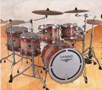 Caballeio- maple burl and america maple 5 pcs acoustic professional drum set