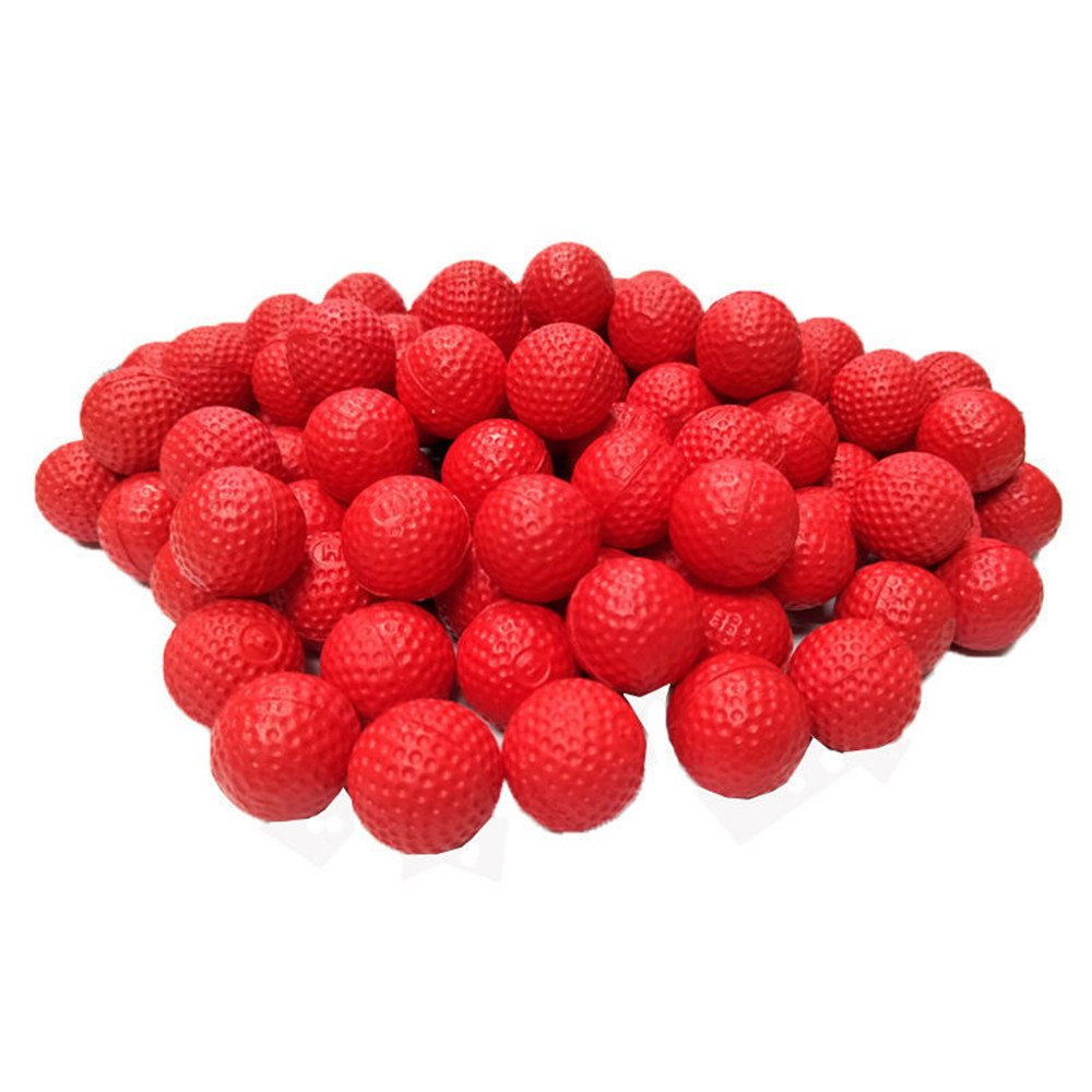 100pcs Nerf Rival Compatible Ammo by HeadShot Ammo 5 Colors Foam Bullet Ball Replacement Refill Pack for Apollo Zeus Khaos Atlas Artemis Blasters Kids Child Christmas Toys Gifts (red)