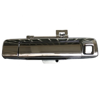 Car body kit chrome rear door handle cover with camera for dmax 2012-2014