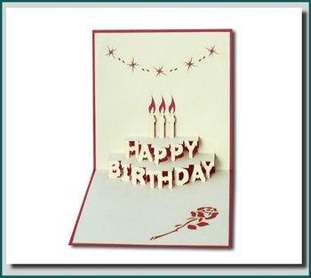 Terrific Birthday Cake In 3D Pop Up Greeting Card Personalised Birthday Cards Petedlily Jamesorg
