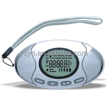 OEM Wholesale Body Fat Analyzer Pedometer With LCD Display/Belt Clip