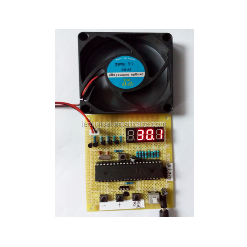 Microcontroller Temperature Controller Fan 51 Microcontroller Based Intelligent Microcontroller Temperature Controller