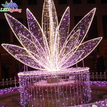 outdoor wholesale festive christmas across street led decoration motif lights 3d flower