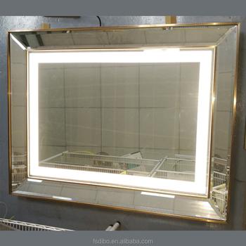 Hotel Led Backlit Bathroom Mirror With Light Vanity Bath Mirror