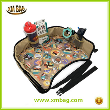 Baby Car Back Seat Organizer Tray for Kids Travel Play Lap Tray Bag
