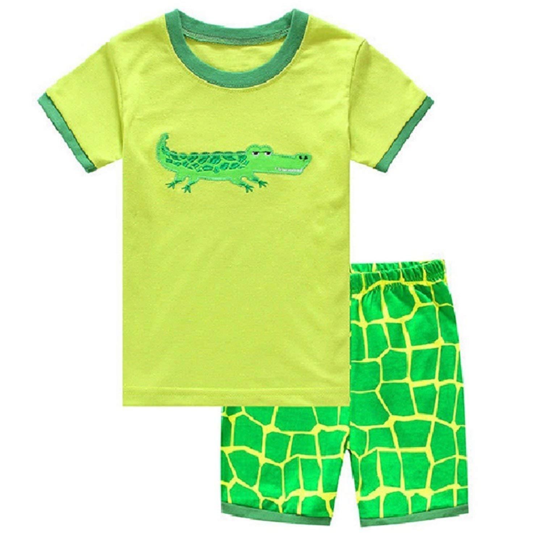 35d39b8f2c8 Get Quotations · Kateirmaso Summer Boys Pajamas Suits Children Clothes  2-Pieces Sets Kids Sleepwear Baby Pijamas T