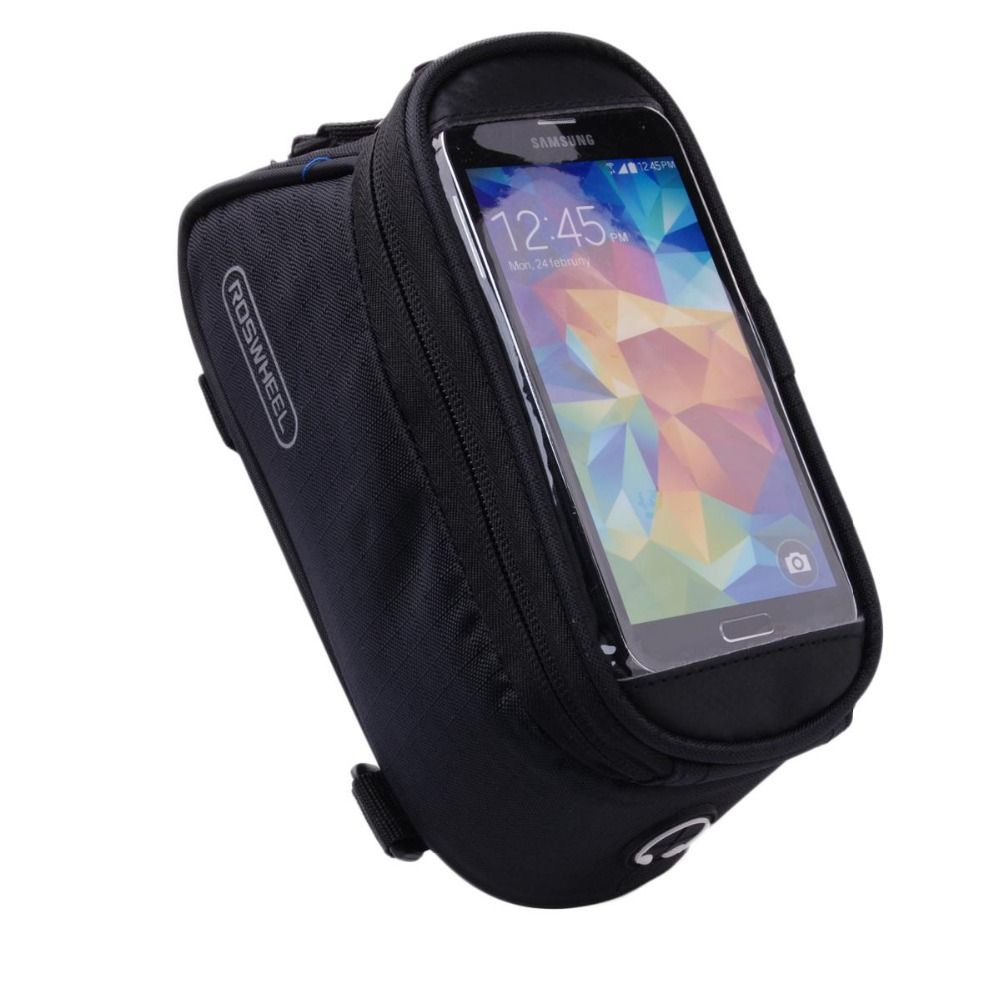 6665d4a55a8 Get Quotations · Mountains Cycling Bicycle Bag Bike Front Tube Frame Bag  Waterproof Touchscreen+Headphone bike bag for