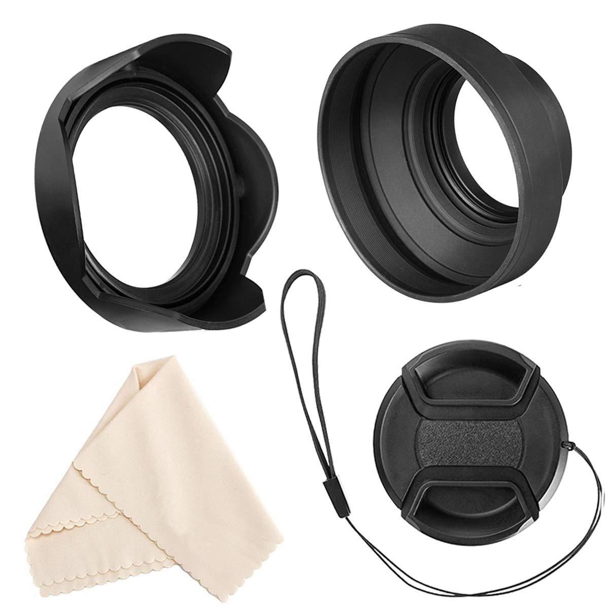 67mm UV Filter PRO Tulip Lens Hood for Canon EF-S 18-135mm f//3.5-5.6 is STM 67mm Florescent Filter /& 67mm Flower Lens Shade Hood is USM 67 mm Polarizing Filter PRO 67mm Filter Kit