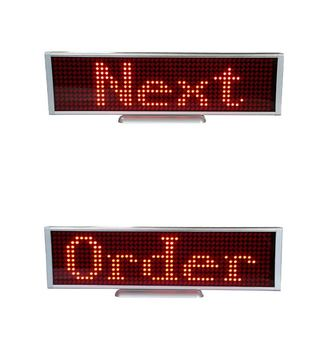 P5-12x48R new style high quality table/desktop red color message led sign with USB communiaction