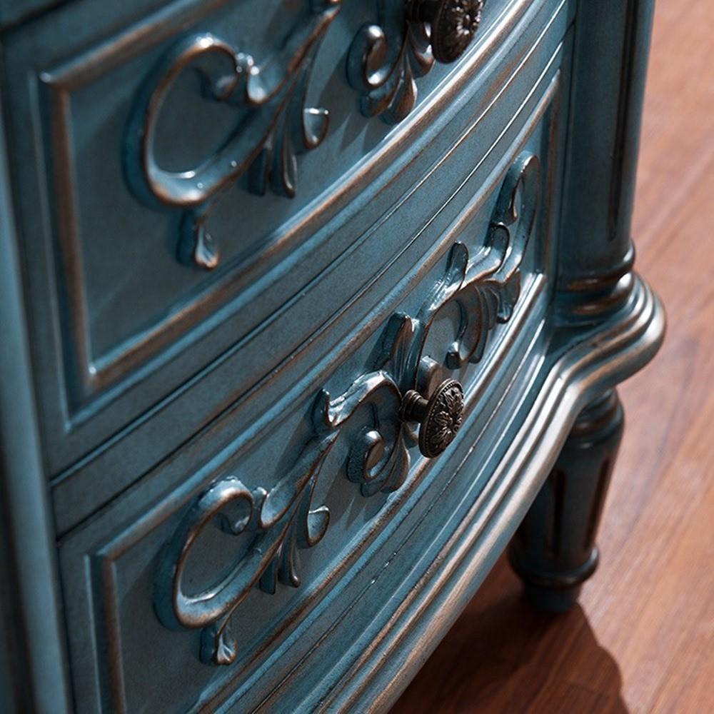 Vintage chic wohnzimmer kommoden, kommoden im antiken blau ...