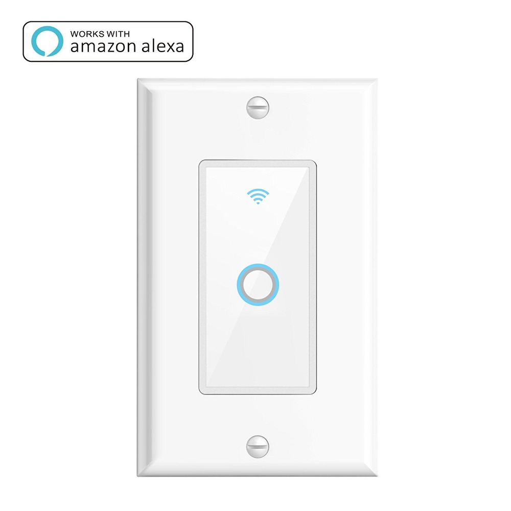 Alexa Google Home Voice Control Touch Wifi Screen Wall Light Switch ...