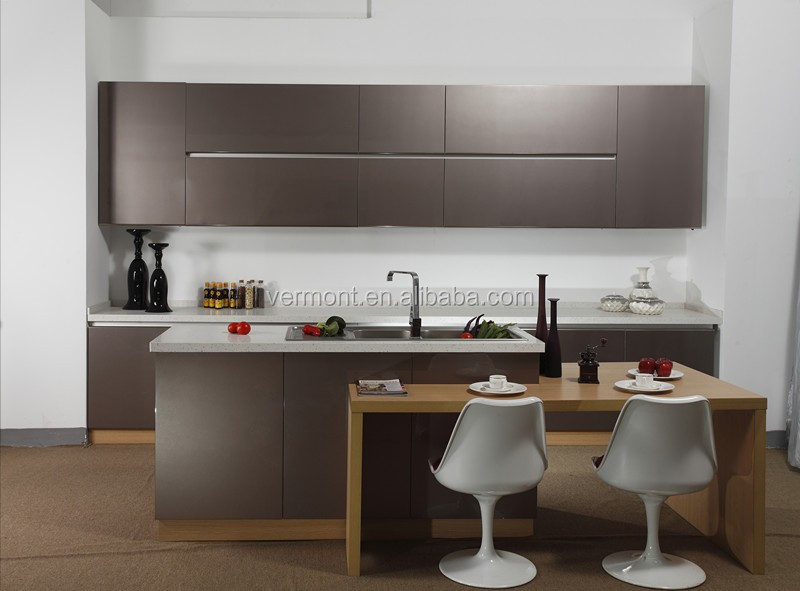 Contemporary Cafe Bar High Gloss Lacquer Kitchen Cabinets