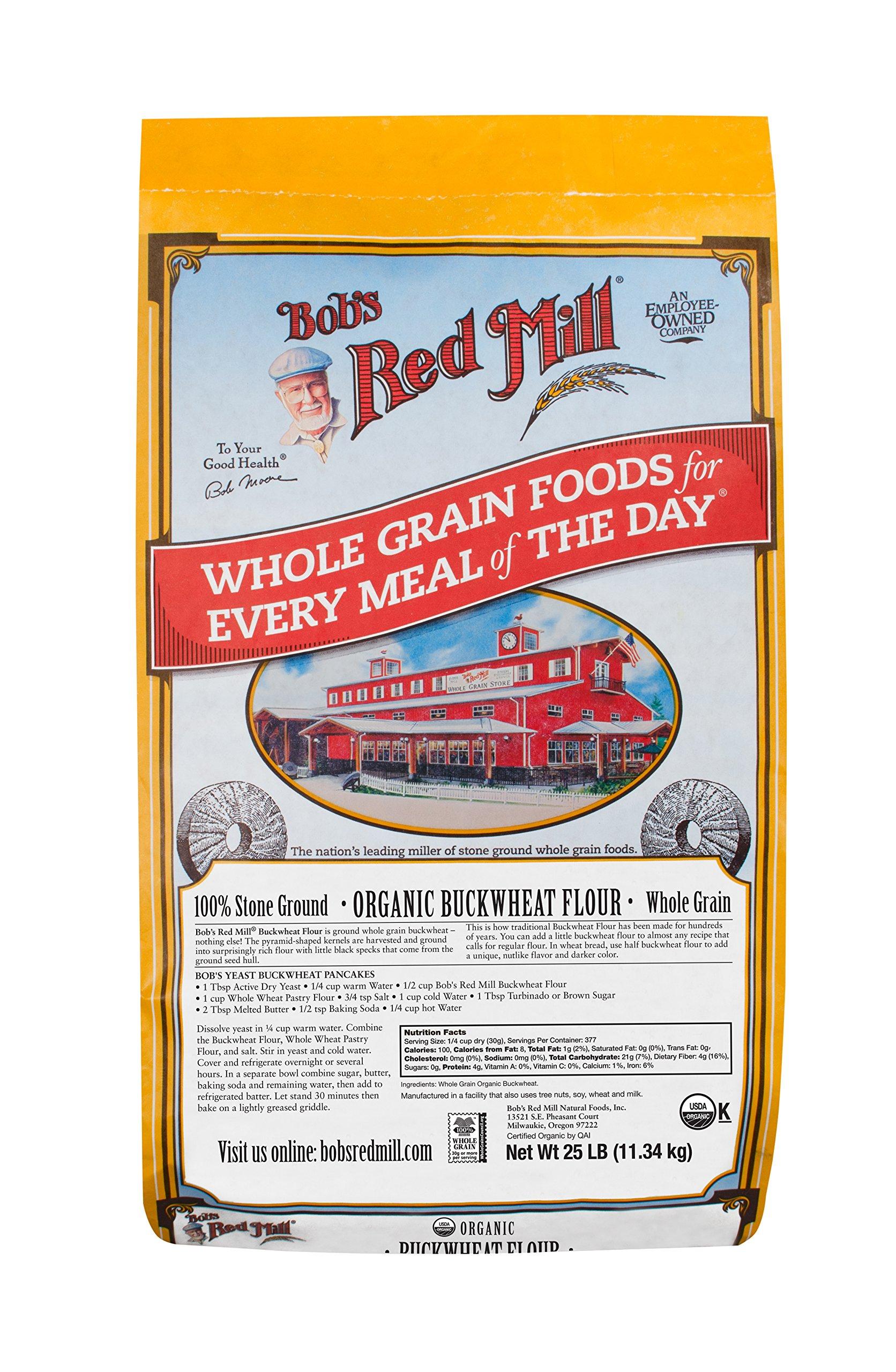 Bob's Red Mill Organic Buckwheat Flour, 25 Pound