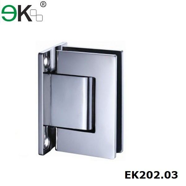 Stainless Steel Bestko Applause Self Closing Glass Hinge T Type 90 Degree Bathroom Door Hinge