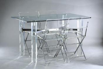 cologique de haute qualit effacer plexiglas table manger et pliable chaise buy plexiglas. Black Bedroom Furniture Sets. Home Design Ideas