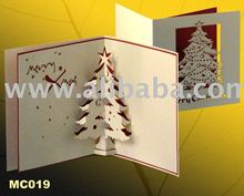 Tree Christmas pop-up greeting card