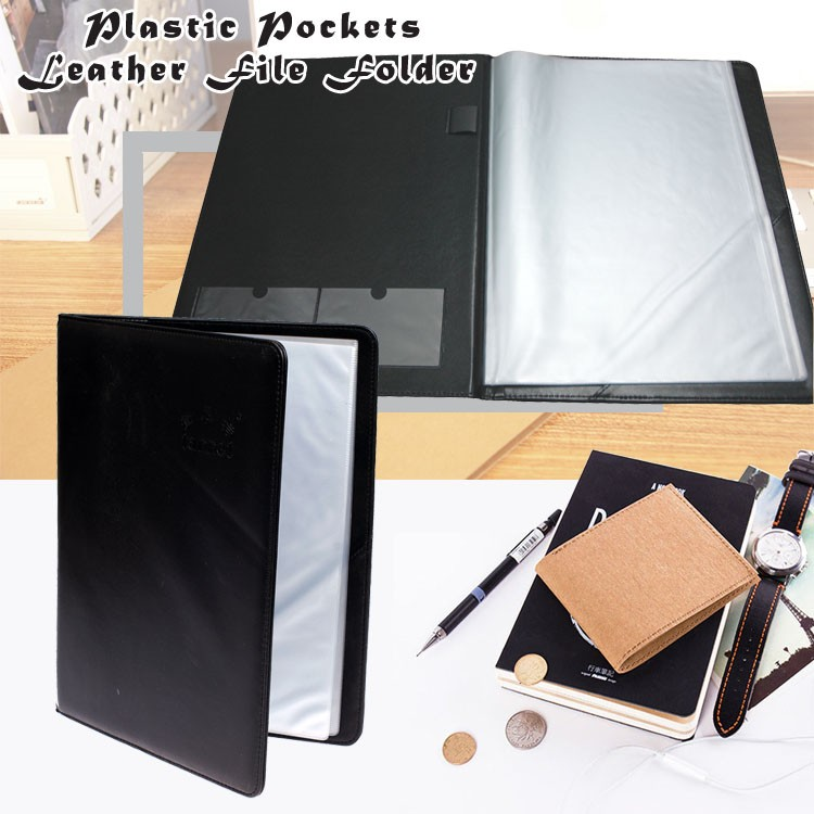 Plastic Pockets Business Presentation Folder A4 With Pen & Card ...