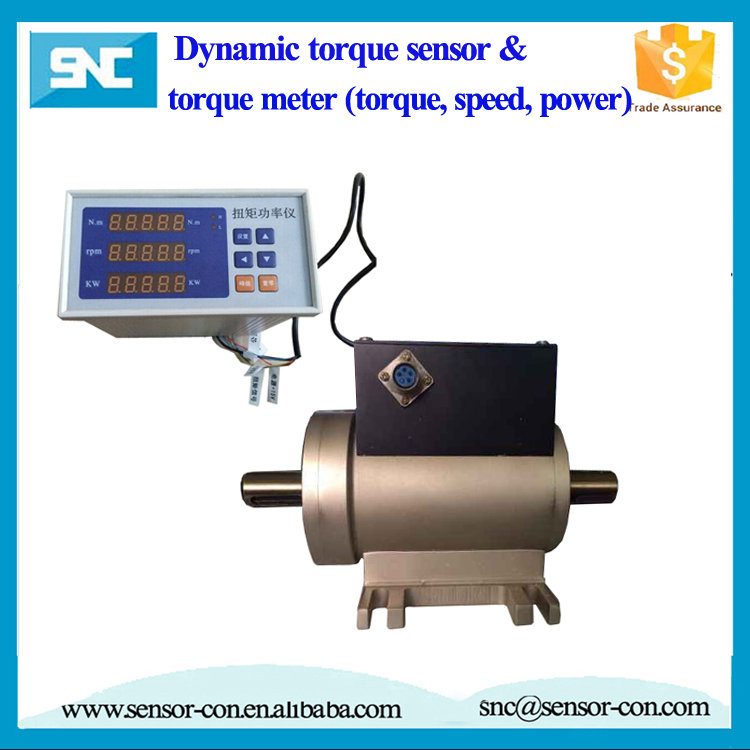Flange type reaction torque sensor torque measuring device for Measuring electric motor torque
