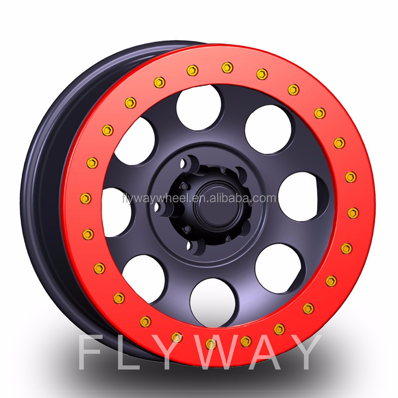 Flyway FR103A 15x8.0 15x10 16x8.0 16x10 17x9.0 5h127 5h139.7 5h150 6h139.7 6h135 8h170 real beadlock alloy wheel offroad car