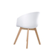 China New Design Wood Legs Upholstered White Modern Dining Chair
