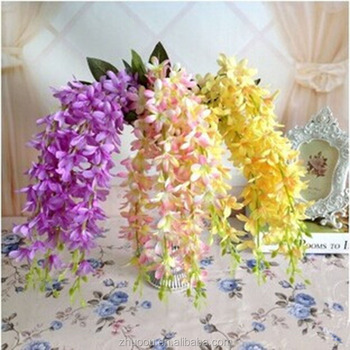 Zhuoou 5 Fork Silk Flowers China Artificial Hanging Flowers Branches