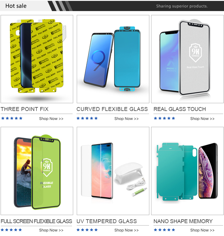 Factory Supply 10H Hardness 5D 6D Full Cover nano flexible tempered Glass Silk Screen Protector for Apple iPhone X 8
