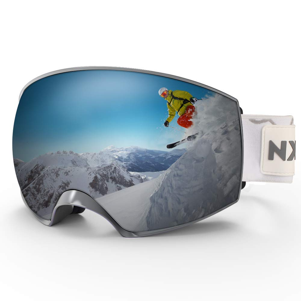 228f46dd0d26 Get Quotations · NXONE Ski Goggles Anti-Fog UV Protection Snowboard Goggles  with Interchangeable Dual Layer Lens Snow