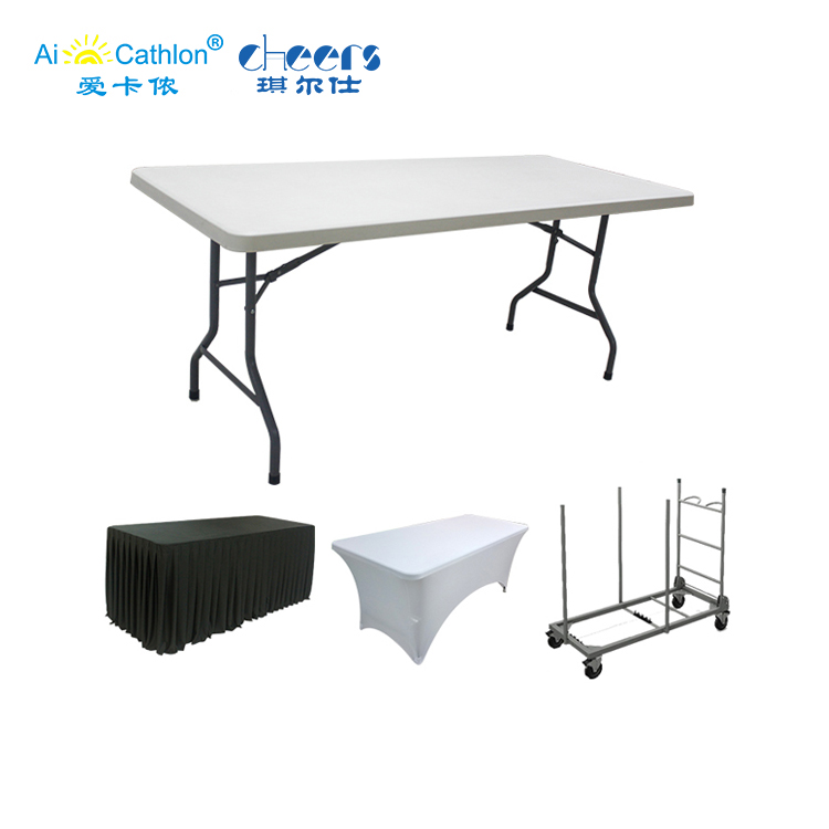 6 Foot Hdpe Plastic Folding Dining