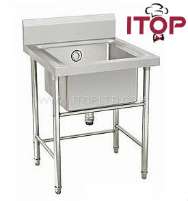 Without Faucet Cheap Kitchen Stainless Steel Pedestal Sink